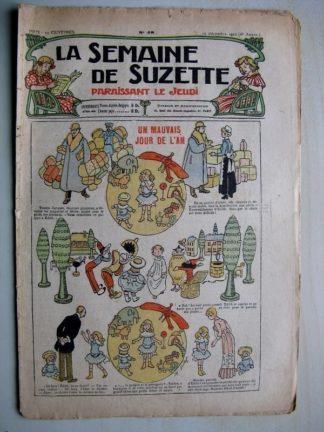 La Semaine de Suzette 6e année n°48 (1910) Mauvais jour de l'An (Henri Avelot)