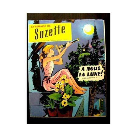 LA SEMAINE DE SUZETTE 49e année (1958) N°35 A NOUS LA LUNE!
