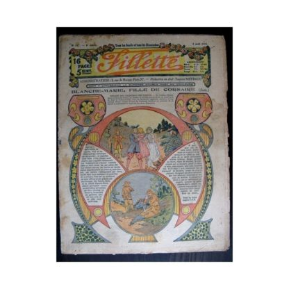 FILLETTE 1914 N°347 BLANCHE-MARIE FILLE DE CORSAIRE (Mode Fillette - modèles de robes 1914)
