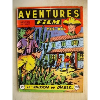 AVENTURES FILM N° 47 Tex Bill - Le Saloon du diable (Artima 1956)