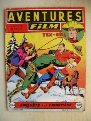 AVENTURES FILM N°64 Tex Bill – Enquête à la frontière (Artima 1957)
