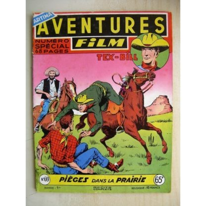 AVENTURES FILM N°69 Tex Bill - Piège dans la prairie (Artima 1957)