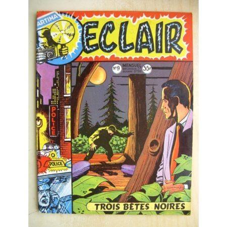 ECLAIR N°9 Angel Audaz - Trois bêtes noires (Artima 1957)
