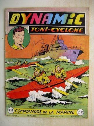DYNAMIC N°51 oni Cyclone - Commandos de la Marine (Artima 1956)