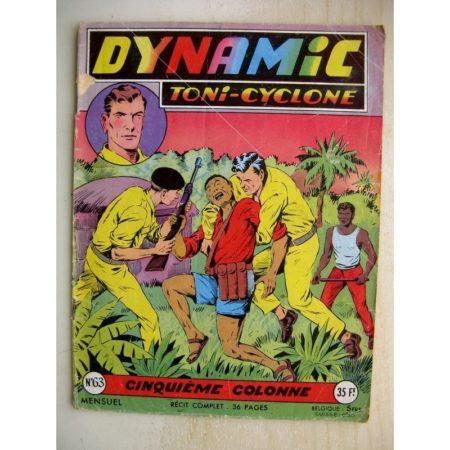 DYNAMIC N°63 Toni Cyclone - Cinquième Colonne (Artima 1957)
