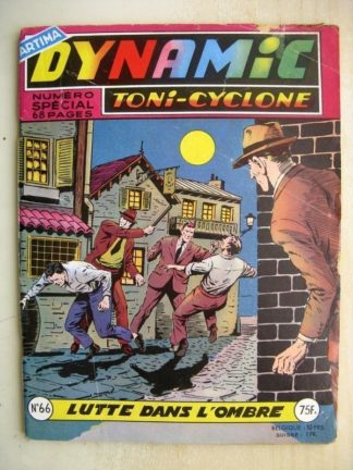 DYNAMIC N°66 Toni Cyclone - Lutte dans l'ombre (Artima 1958)