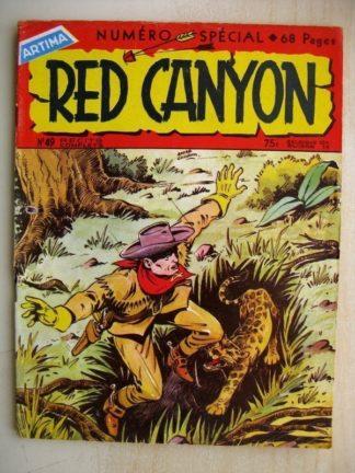 RED CANYON N°49 L'homme sans passé - L'homme du désert (Artima 1958)