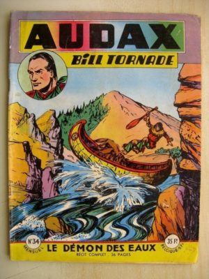 AUDAX N°34 BILL TORNADE - Le démon des eaux (Artima 1955)