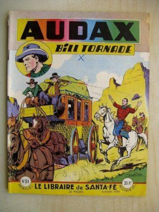 AUDAX N°51 BILL TORNADE - le libraire de Santa Fé (Artima 1956)