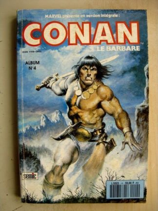 CONAN Album 4 (N°10,11,12) La Tour (Don Kraar - Mike Docherty) SEMIC Marvel Version Intégrale