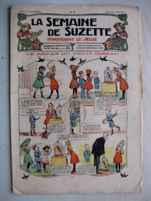La Semaine de Suzette 7e année n°5 (1911) Le repas du petit oiseau (Guydo) Calendrier japonais