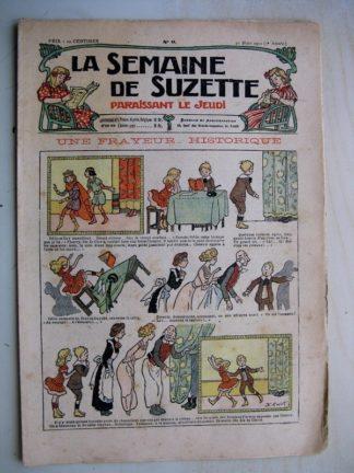 La Semaine de Suzette 7e année n°9 (1911) Une frayeur historique (Henri Avelot)