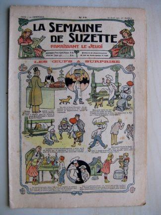 La Semaine de Suzette 7e année n°12 (1911) Les oeufs à surprise - Cloches de Pâques (Leonce Buret)