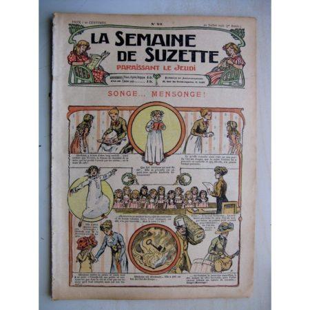 La Semaine de Suzette 7e année n°25 (1911) Dix petits korrigans (Henri Avelot) Bleuette - Tablier de jardin