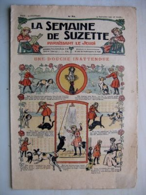 La Semaine de Suzette 7e année n°33 (1911) Une douche inattendue (Bleuette - Bonnet d'automobile)