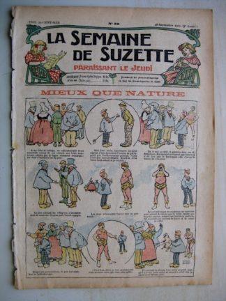 La Semaine de Suzette 7e année n°35 (1911) Mieux que nature (Léonce Burret)