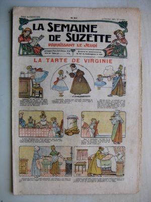 La Semaine de Suzette 7e année n°37 (1911) La tarte de Virginie (Léonce Burret) Bleuette - Costume tailleur - Robe