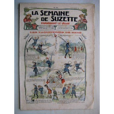 La Semaine de Suzette 7e année n°42 (1911) Taquineries de René (Bleuette - chemises)