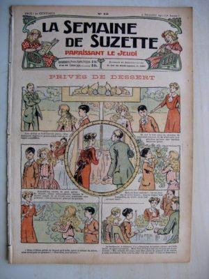 La Semaine de Suzette 7e année n°45 (1911) Privés de dessert (Bleuette – Layette – robe longue)