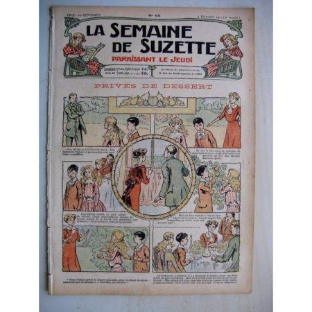 La Semaine de Suzette 7e année n°45 (1911) Privés de dessert (Bleuette - robe longue)