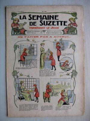 La Semaine de Suzette 7e année n°46 (1911) Ne faites pas à autrui (Bleuette – Layette – brassières)