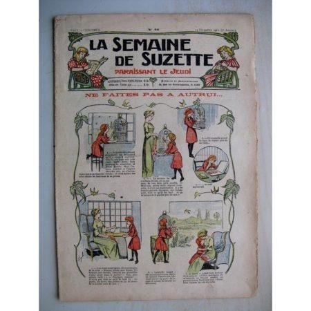 La Semaine de Suzette 7e année n°46 (1911) Ne faites pas à autrui (Bleuette - Layette - brassières)