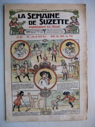 La Semaine de Suzette 7e année n°49 (1912) Je t'aime maman (Bleuette - Layette Jackson)