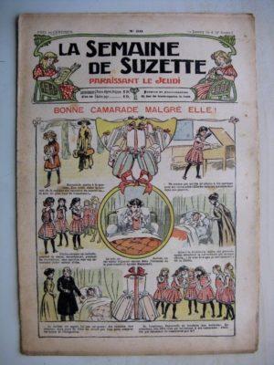 La Semaine de Suzette 7e année n°50 (1912) Bonne camarade malgré elle (Bleuette – Robe en lainage)