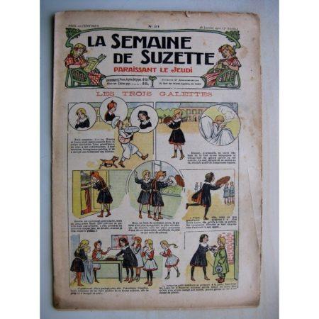 La Semaine de Suzette 7e année n°51 (1912) Les trois galettes - Raton le brigand (Jean d'Aurian)