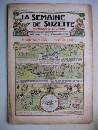 La Semaine de Suzette 8e année n°3 (1912) Déguisement dangereux (goret sanglier)