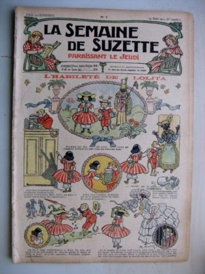 La Semaine de Suzette 8e année n°7 (1912) L'habileté de Lolita (Bleuette Manteau d'écolière)
