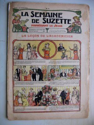 La Semaine de Suzette 8e année n°8 (21 mars 1912) La leçon de l'académicien (Bleuette – Guêtres en drap)