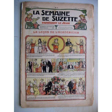 La Semaine de Suzette 8e année n°8 (21 mars 1912) La leçon de l'académicien (Bleuette - Guêtres en drap)