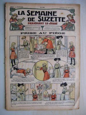 La Semaine de Suzette 8e année n°36 (1912) Prise au piège – Macaque et Pélican (Jean d'Aurian)