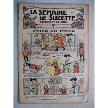 La Semaine de Suzette 8e année n°36 (1912) Prise au piège - Macaque et Pélican (Jean d'Aurian)