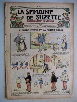 La Semaine de Suzette 8e année n°37 (1912) Grand frère et petite soeur (Léonce burret) Bleuette - Manteau habillé