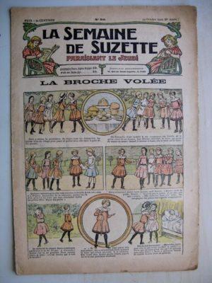 La Semaine de Suzette 8e année n°39 (1912) La broche volée – Le cheval et l'auto (Henri de Sta)