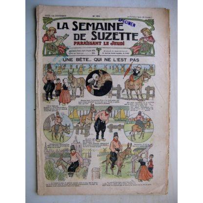 La Semaine de Suzette 8e année n° (1912) Une bête qui ne l'est pas (Henri Avelot) Bleuette - Tablier