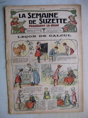 La Semaine de Suzette 8e année n°41 (1912) Leçon de calcul (Guydo) Bleuette – Parement de corsage et de jaquette