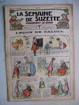 La Semaine de Suzette 8e année n°41 (1912) Leçon de calcul (Guydo) Bleuette - Parement de corsage et de jaquette
