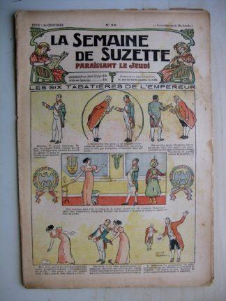 La Semaine de Suzette 8e année n°42 (1912) Les six tabatières de l'Empereur - Bleuette (robe de mariée)