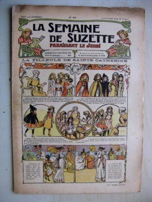 La Semaine de Suzette 8e année n°43  (1912) La filleule de Sainte Catherine – Bleuette (voile de mariée)
