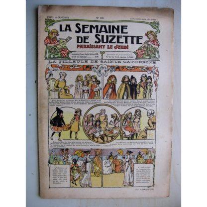 La Semaine de Suzette 8e année n°43 (1912) La filleule de Sainte Catherine - Bleuette (voile de mariée)