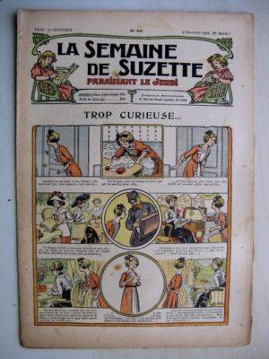 La Semaine de Suzette 8e année n°45 (1912) Trop curieuse – La revanche de maître corbeau (Jean d'Aurian)
