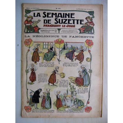 La Semaine de Suzette 8e année n°47 (1912) La négligence de Fanchette (Guydo) Jugement équitable (Léonce Burret)