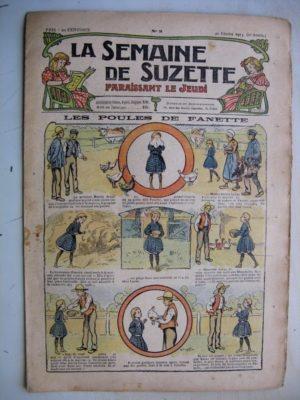 La Semaine de Suzette 9e année n°3 (1913) Les poules de Fanette (Bleuette – Bouquetière Louis XV) L'enfance de Bécassine (3)