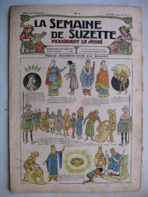 La Semaine de Suzette 9e année n°4 (1913) Retrouver la bague de Blanche de Castille (Henri Avelot) L'enfance de Bécassine (4)