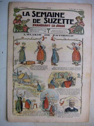 La Semaine de Suzette 9e année n°5 (1913) L'élixir de patience (Guydo) L'enfance de Bécassine (5) Bleuette (robe de chambre)