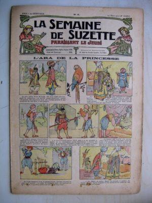 La Semaine de Suzette 9e année n°6  (1913) L'ara de la princesse (Léonce Burret) L'enfance de Bécassine (6)