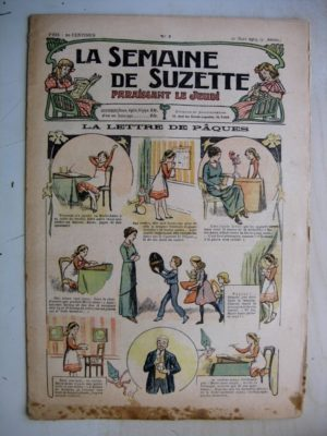 La Semaine de Suzette 9e année n°7 (1913) La lettre de Pâques (Guydo) La frayeur de souris (Jehan Testevuide)